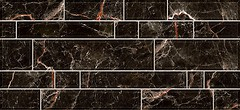 Inter Cerama плитка настенная PLAZA черная 23x50