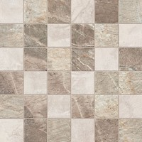 ABK Ceramiche грес (керамогранит) мозаика Fossil Mos Quadretti Mix Cream/Beige/Brown 30x30 (FSN03061)