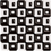 Roca мозаика CALYPSO B&W MALLA CHESS BLANCO-NEGRO 36x36