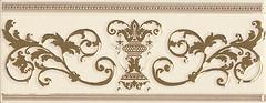 Фото APE фриз Le Marais Listelo Rodin Ivory Gold 10x25