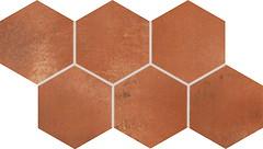Rako грес (керамогранит) декор VIA DDVT8712 красно-коричневый 21x37