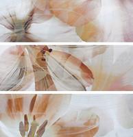 TAU Ceramica набор декоров Onice Decor Flor Marfil 25x75