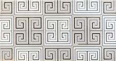 TAU Ceramica декор Tabriz Decor Greca Gris 31.6x60
