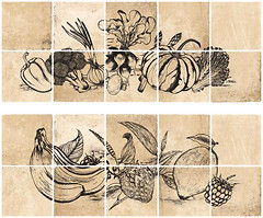 Ceranosa набор декоров Dolmen Decor Cocina Beige 20x50