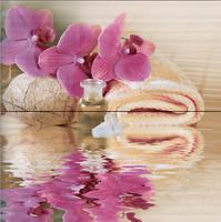 Belani декор-панно Фрезия Орхидея розовое 50x50 (комплект 2 шт)