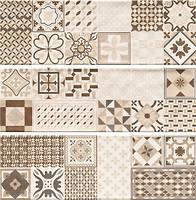 Фото Cristal Ceramica декор-панно Miracle Decor Melina Beige 60x60 (комплект 3 шт)