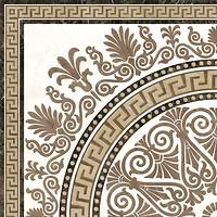 Golden Tile декор Meander Rosette бежевый 40x40 (2А1810)