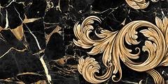 Фото Golden Tile декор Saint Laurent 2 черный 30x60 (9АС321)
