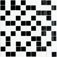 Фото Котто Кераміка мозаика стеклянная GM 4001 C2 Black/White 30x30