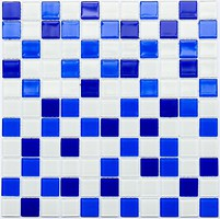 Котто Кераміка мозаика стеклянная GM 4033 C3 Cobalt D/Cobalt M/White 30x30