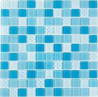 Фото Котто Кераміка мозаика стеклянная GM 4051 C3 Blue D/Blue M/Structure 30x30