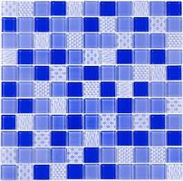 Фото Котто Кераміка мозаика стеклянная GM 4052 C3 Cobalt M/Cobalt W/Structure 30x30