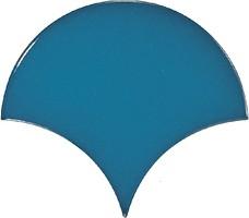 Equipe Ceramicas плитка настенная Scale Fan Electric Blue 10.6x12