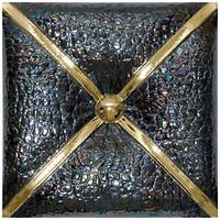 Unicer декор Cushion Metal Negro Oro P 70 20x20