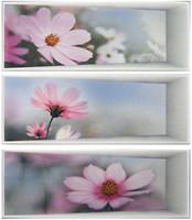 Фото Dual Gres декор-панно Silk Set Panoramic Malva 67.5x60 (комплект 3 шт)