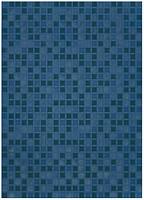 БерезаКерамика плитка настенная Квадро синяя 25x35