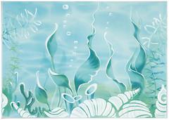 БерезаКерамика декор Лазурь Морское дно бирюзовый 25x35