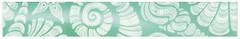 Фото БерезаКерамика фриз Лазурь Ракушки бирюзовый 5.4x35