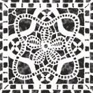 Фото Керамин декор вставка Органза 5 9.8x9.8
