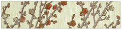 Керамин бордюр Сакура 3 27.5x6.2