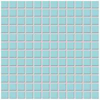 Фото Rako мозаика COLOR TWO GDM02003 голубая матовая 29.7x29.7 Куб 2.3x2.3