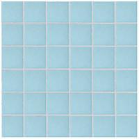 Фото Rako мозаика COLOR TWO GRS05603 голубая матовая 29.7x29.7 Куб 4.7x4.7