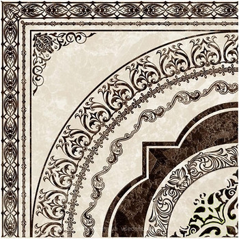 Фото Golden Tile декор Vulcano бежевый 40x40 (Д11301)