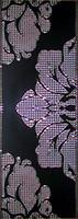БерезаКерамика фриз Капри Гобелен черный 12.5x25