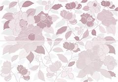 Фото Keraben декор-панно Tiffany Tiara Pink 48x69 (комлект 2 шт)
