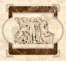 Фото Inter Cerama декор-панно EMPERADOR 031 коричневое 46x50 (комплект 2 шт)