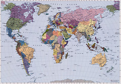 Komar Products World Map 4-050