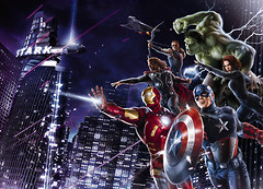 Komar Products Avengers Citynight 4-434