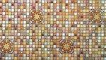 Фото Регул листовая панель 956x480x4 мм Мозаика Медальон коричневый (33к)