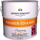 Фото Дніпро-Контакт Грунт-эмаль 3 в 1 светло-серая 2.8 кг