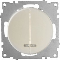 Фото OneKeyElectro Выключатель 1E31801301 двухклавишный с подсветкой