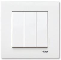 Viko Выключатель Karre трехклавишный