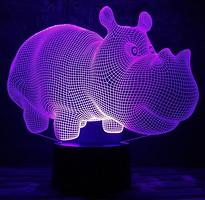 Фото 3D Toys Lamp Бегемот