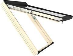 Мансардное окно деревянное Fakro FPP-V 780х1180 1 ств. (накл.-вращ.) 1-кам.