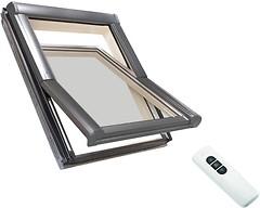 Мансардное окно деревянное Roto WDT R45 H WD 740х980 1-ств. (цент. ось) 1-кам.