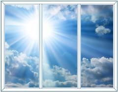 Фото Балконная рама (остекленная) Rehau 2500х1400 3-ств. (пов.-отк.) 1-кам.