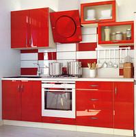 Альфа-мебель Кухня с гладкими фасадами МДФ 2.3