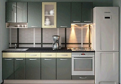 Альфа-мебель Кухня с гладкими фасадами МДФ 2.4