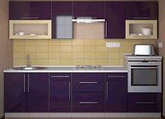 Альфа-мебель Кухня с гладкими фасадами МДФ 2.8
