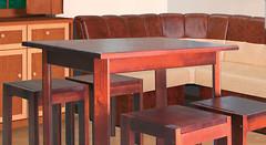 Мебель сервис Кухонный Олимп + 2 табурета
