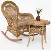 Фото Cruzo Виктория кресло-качалка + стол