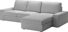 Фото IKEA КИВИК 2-местный диван и козетка 790.114.11