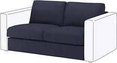 Фото IKEA ВИМЛЕ секция 2-местная 692.195.05