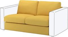 Фото IKEA ВИМЛЕ секция 2-местная 692.195.10