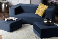 Фото Tia-sport Комплект диван и 2 пуфа Zipli XL