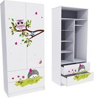 Фото Mebelkon Совушки шкаф с двумя ящиками 211x90x50